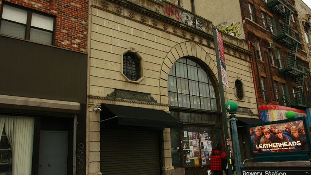 bowery1 Where We Live: Bowery Ballroom   New York, NY
