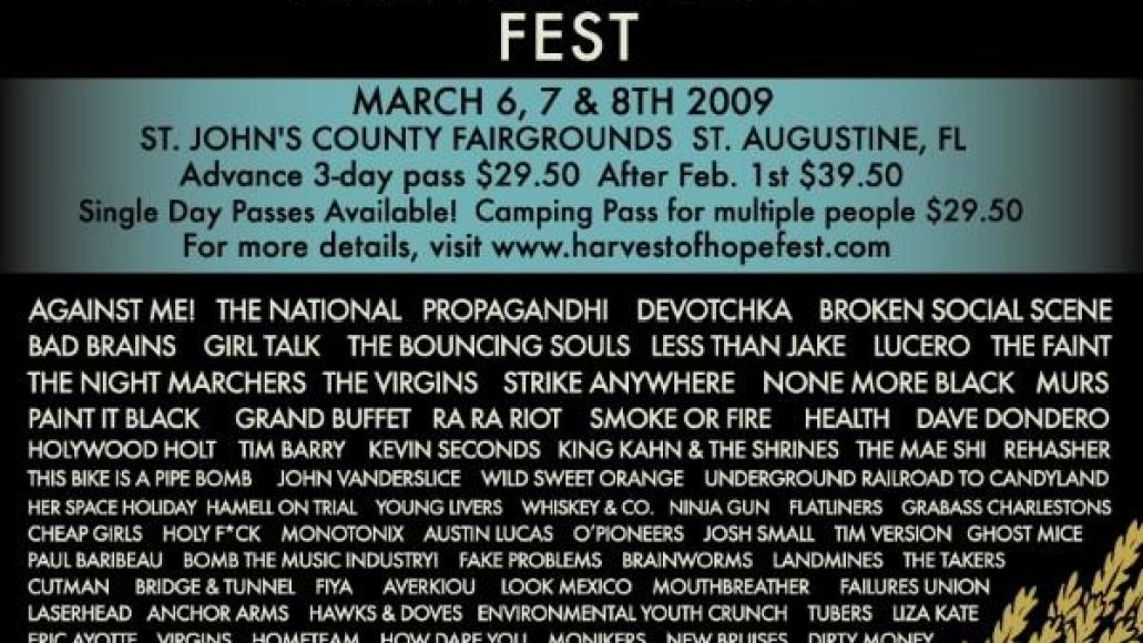 hohposter Harvest of Hope offers more bands, quickly becomes favorite for most underrated festival of 2009
