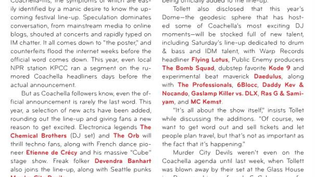 coachellamag Coachella 09 adds Chemical Brothers, Etienne de Crécy, and more...