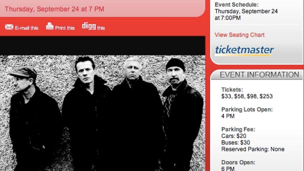 u2muse U2 taps Muse as tour opener?