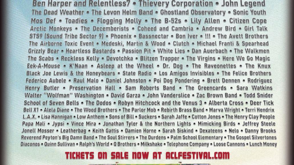 acl2009 Pearl Jam, Dave Matthews Band, Beastie Boys head Austin City Limits 09