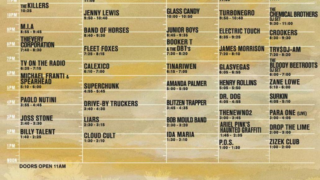 coachellasat Coachella offers up 09 schedule
