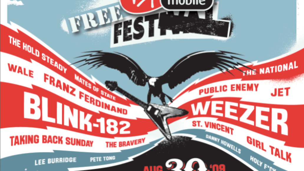 vfreefestposter  Blink 182, Weezer, Public Enemy, The National head revamped Virgin Mobile FreeFest