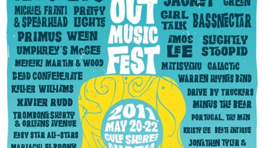 2011 03march 15 hangoutfestposter Hangout Festival adds 12 more acts including The Avett Bros., Grace Potter, Mofro, STS9, and Brandi Carlile