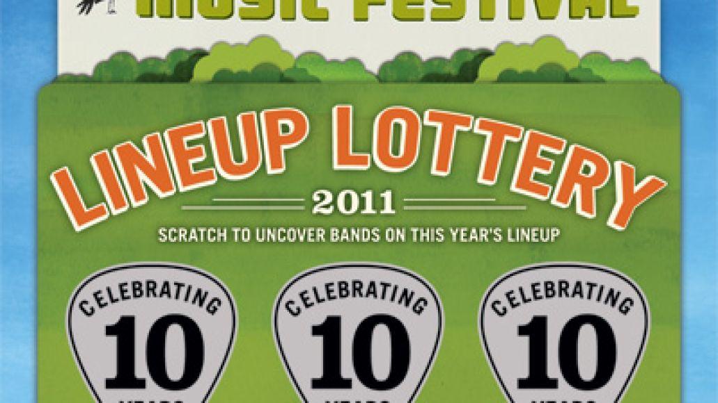 acl scratch off Austin City Limits 2011 lineup via scratch off cards...