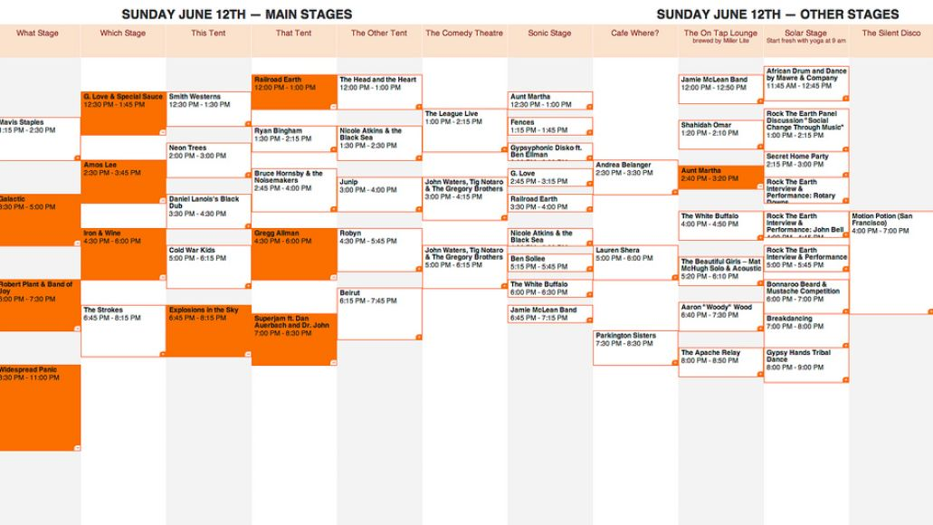 bonnaroo 2011 sunday Bonnaroo reveals 2011 schedule