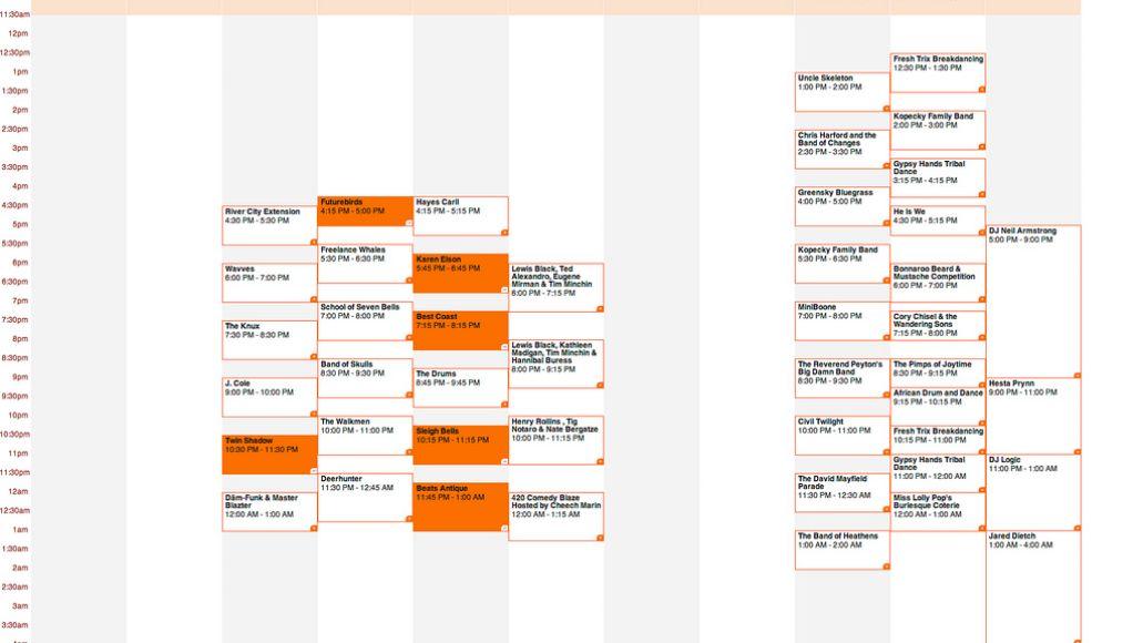 bonnaroo 2011 thursday Bonnaroo reveals 2011 schedule