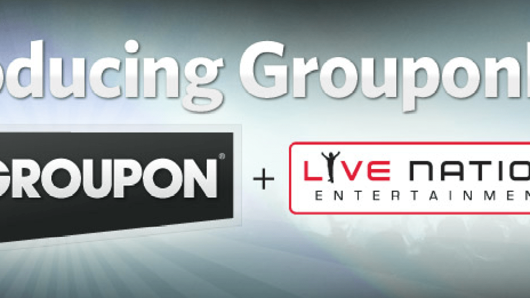 grouponlive Groupon and Live Nation launch ticket deal service GrouponLive