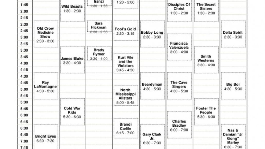 acl day 1 723x1024 Austin City Limits reveals 2011 set times