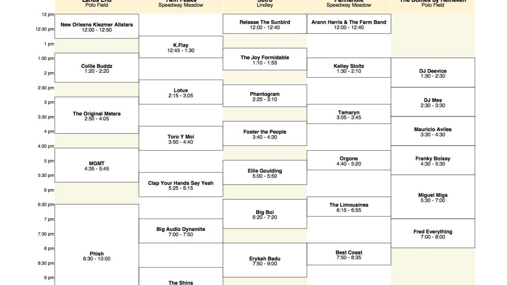 osl friday Outside Lands reveals 2011 schedule