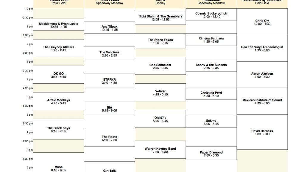 osl saturday Outside Lands reveals 2011 schedule