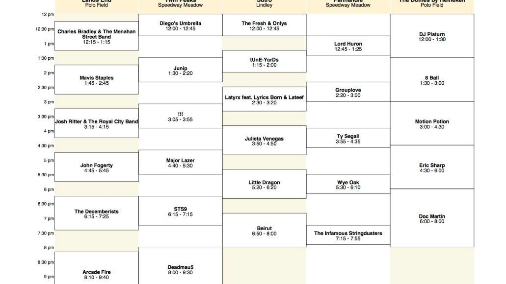 osl sunday Outside Lands reveals 2011 schedule
