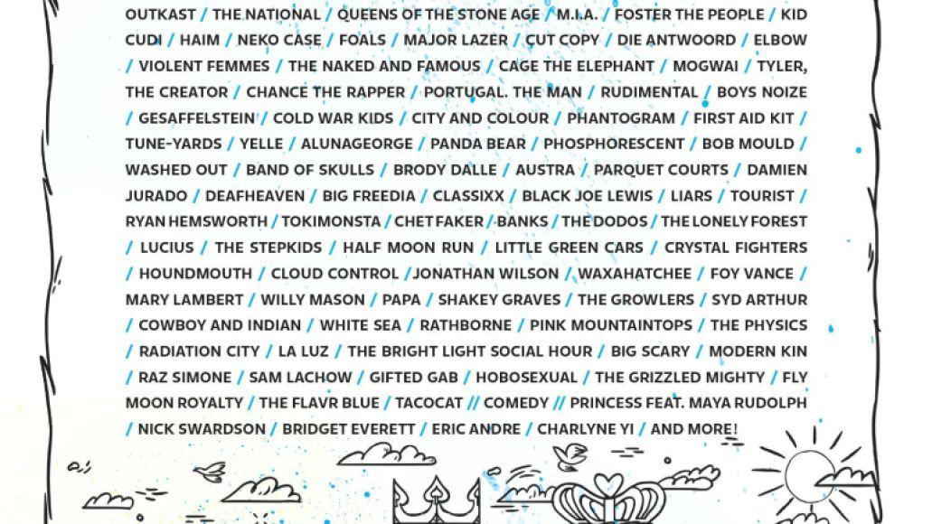 sasquatch Top 10 Music Festivals in North America: Spring 2014 Power Rankings