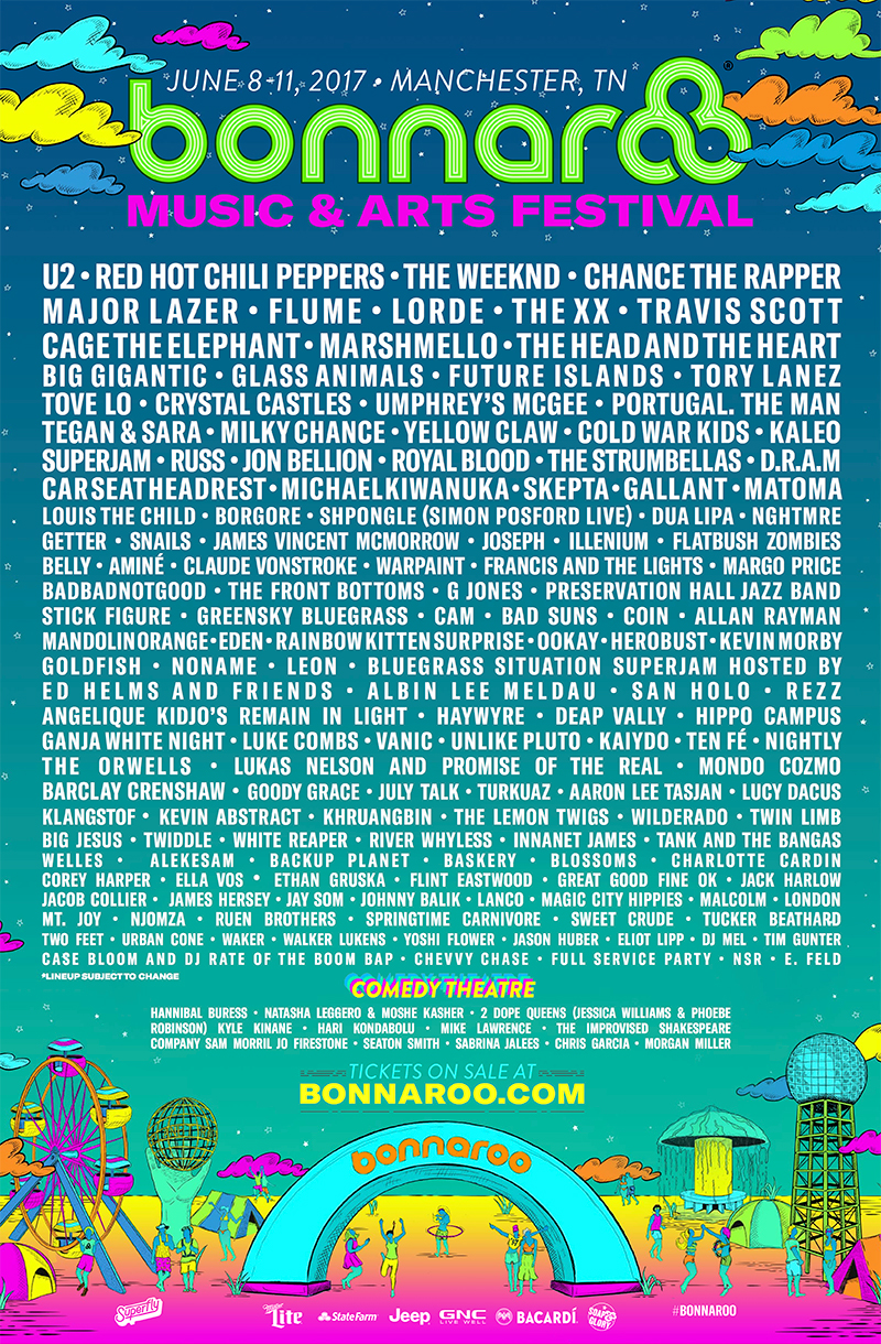 april updated 2 Win VIP tickets to Bonnaroo Music Festival 2017