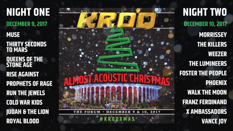 kroq almost acoustic christmas Almost Acoustic Christmas 2017 lineup: QOTSA, Morrissey, The Killers, Muse, and more