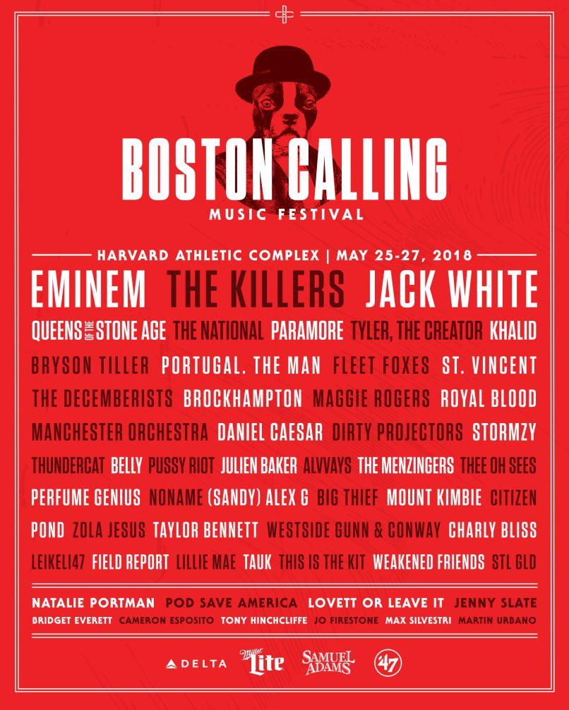 boston calling 2018 lineup admat The Big Four Shuffle: All Hail the New Music Festival Kings