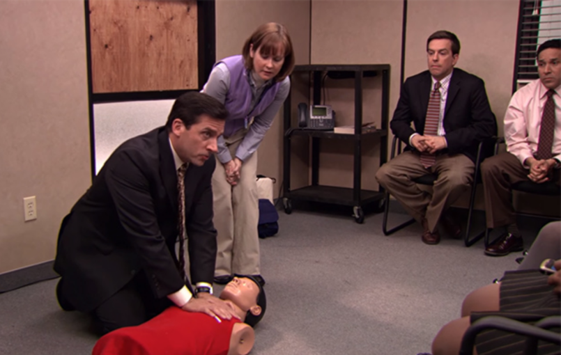 Michael Scott, The Office, CPR, Season Five, 2009, Steve Carell