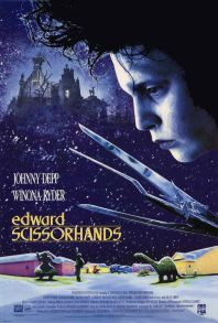 edward scissorhands tim burton johnny depp poster