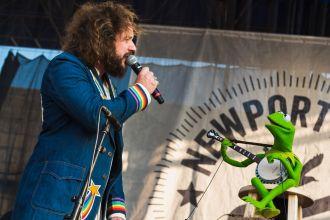 Jim James Kermit the Frog If I Had a Song Newport Folk Festival 2019 Ben Kaye