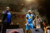 Layzie Bone, from left, Bizzy Bone and Wish Bone of Bone Thugs n Harmony perform at the Iron Horse Saloon during the 80th annual Sturgis Motorcycle Rally on Saturday, Aug. 15, 2020, in Sturgis, S.D. (Amy Harris)