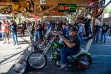 Bikers participate in barrel races at the Broken Spoke Saloon during the 80th annual Sturgis Motorcycle Rally on Friday, Aug. 14, 2020, in Sturgis, S.D. (Amy Harris)